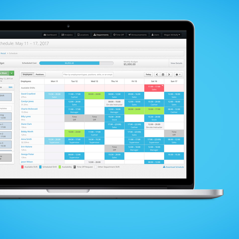 Online Employee Scheduling App - Features - MakeShift